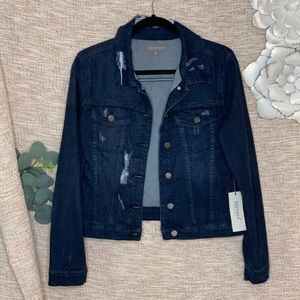[Just USA] Distressed Soft Stretchy Jean Jacket